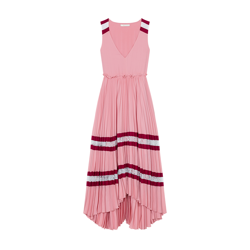 Long pleated dress - Dresses - MAJE